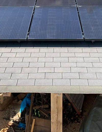 Installation d'un système photovoltaïque en autoconsommation avec revente de surplus d'une puissance de 4,5kwc à Chamborigaud